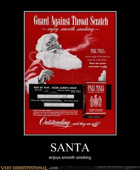 hilarious santa smoking smooth - 4862742272