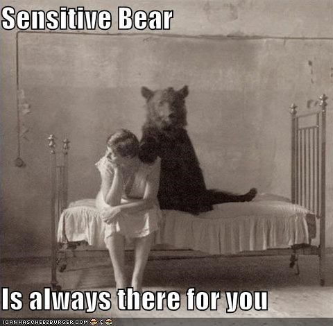 Sensitive Bear Is always there for you