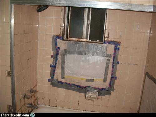 bathroom duct tape gross shower - 4863106048