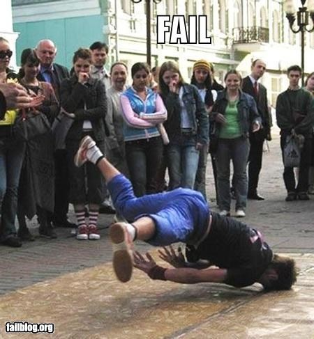 break dancing failboat falling g rated headshot white people - 4863548672