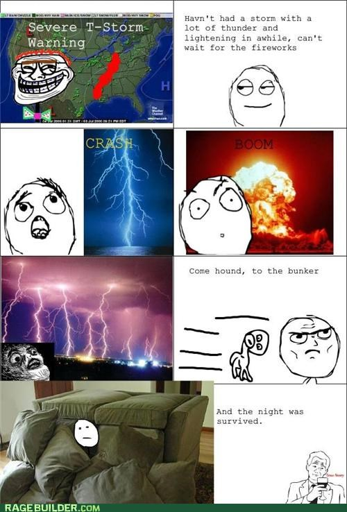 fear loud Rage Comics scary thunderstorm - 4863567616