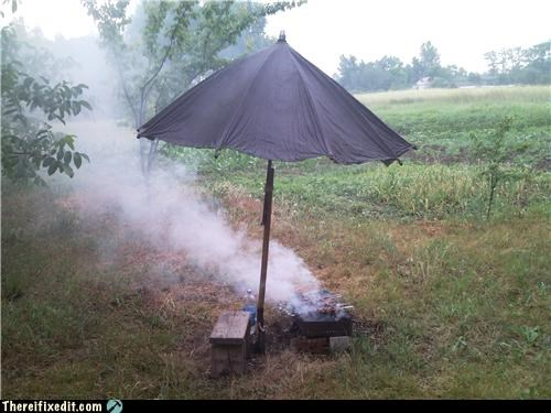 bbq cooking umbrella wtf - 4863633920