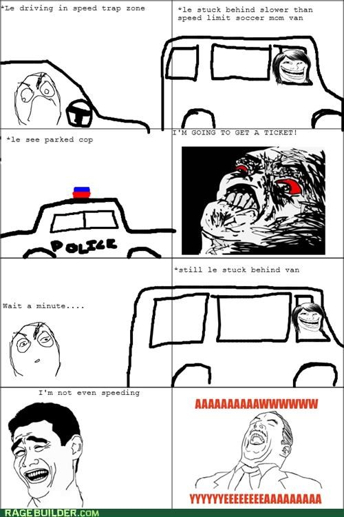Rage Comics speed limit speed trap sweet win