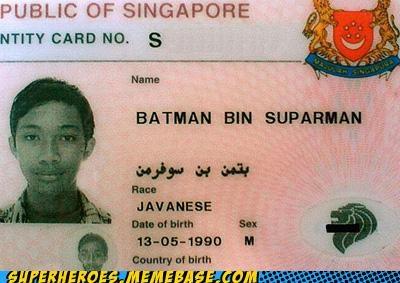 awesome batman license name Superhero IRL superman - 4863687424