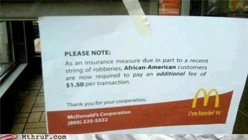 McDonalds is racist?