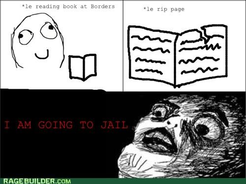 book borders jail page Rage Comics rip - 4863773952