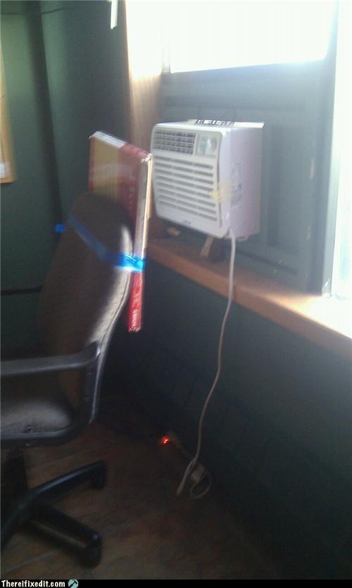 air conditioner blocking cardboard box wtf - 4863893504