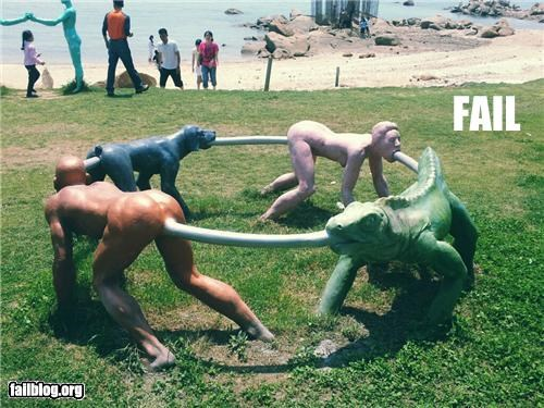 failboat,Hall of Fame,human centipede,innuendo,statue,Things That Are Doing It