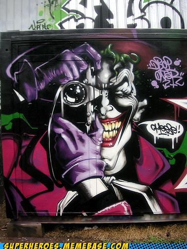 amazing Awesome Art graffiti hilarious the joker - 4863984384