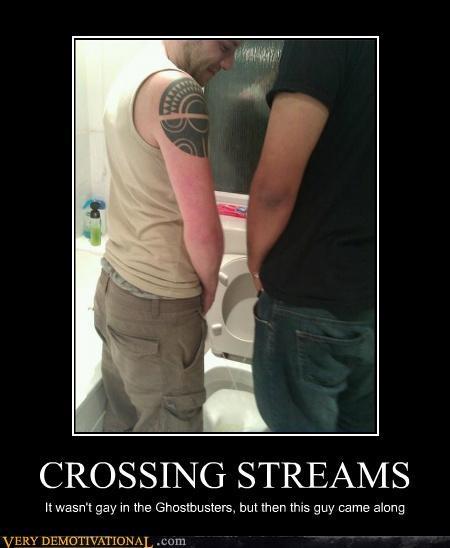 crossing streams gay Ghostbusters hilarious pee swords - 4864111616