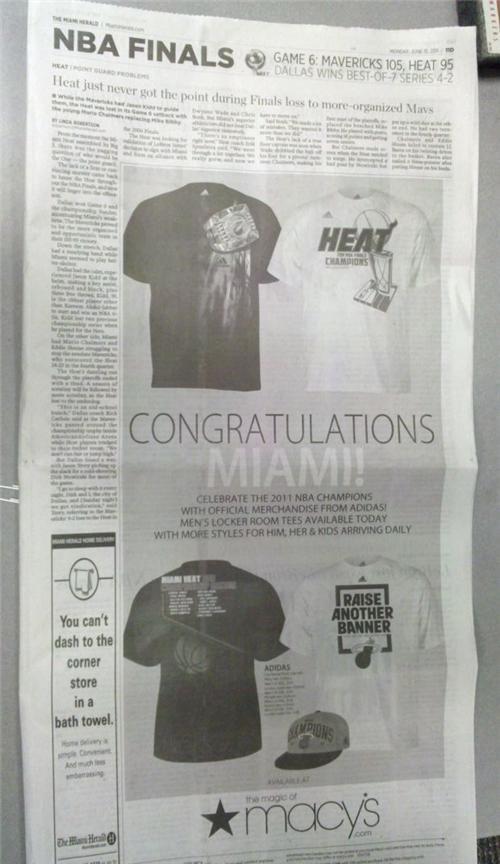 2011 NBA Finals Dallas Mavericks miami heat Some Dumb Erratum Whoopsie Daisy - 4864196608