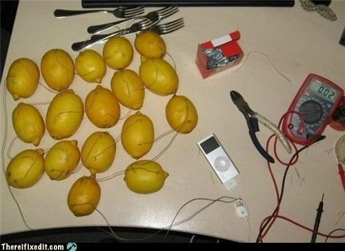 Apple product,dual use,electronics,food,ipod,lemon