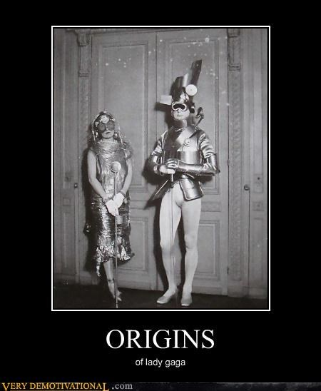 lady gaga origins joke