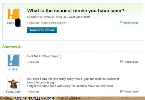 scary movies shock sites the mac user Yahoo Answer Fails - 4864531200