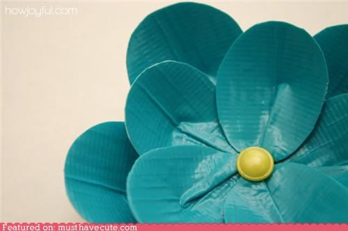 DIY duct tape Flower How To pattern - 4864596480