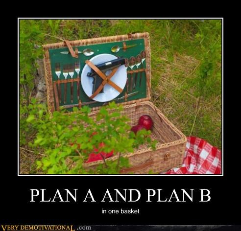 PLAN A AND PLAN B in one basket