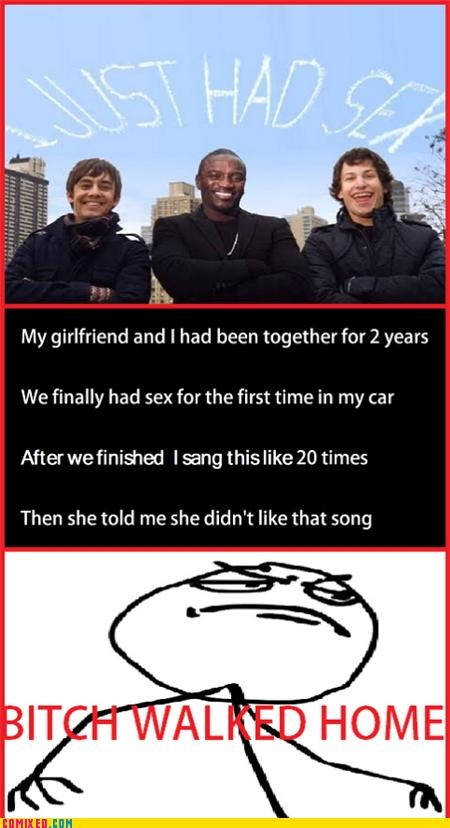 akon i just had sex Lonely Island Music rage comic