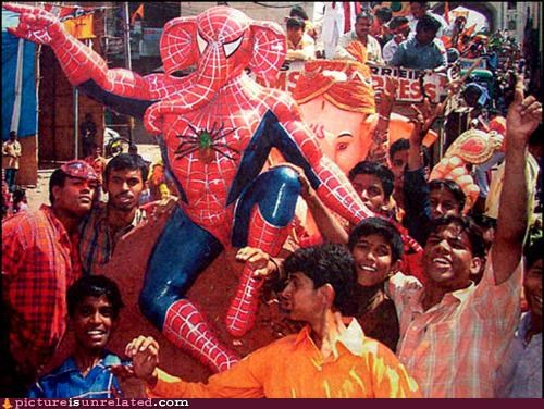elephant,india,Spider-Man,wtf