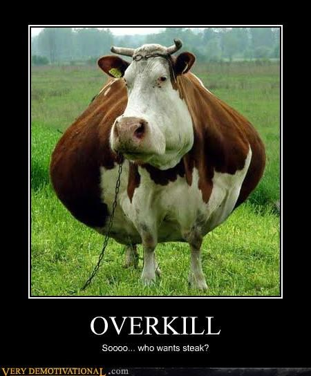 cow fat hilarious overkill steak wtf - 4865350144