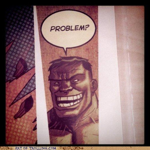 comics,the hulk,troll face,win