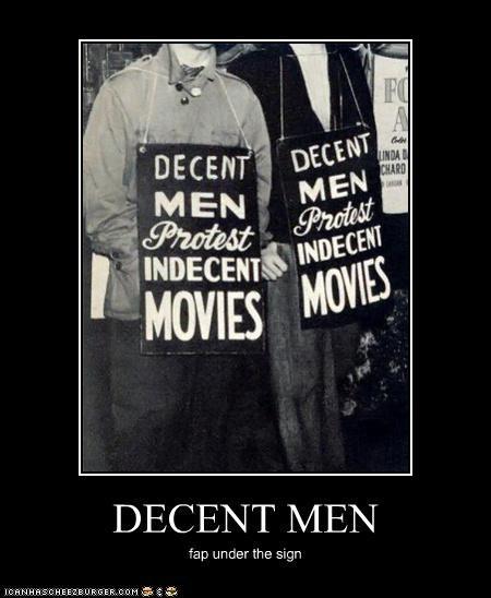 DECENT MEN fap under the sign