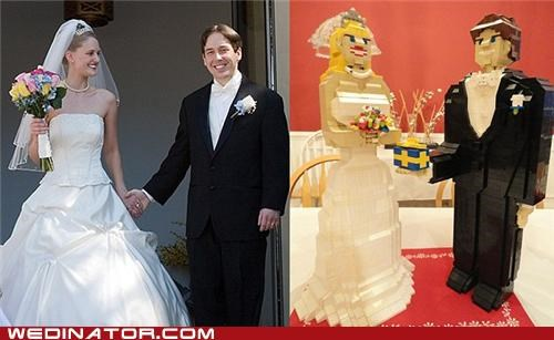 bride,funny wedding photos,groom,Hall of Fame,legos