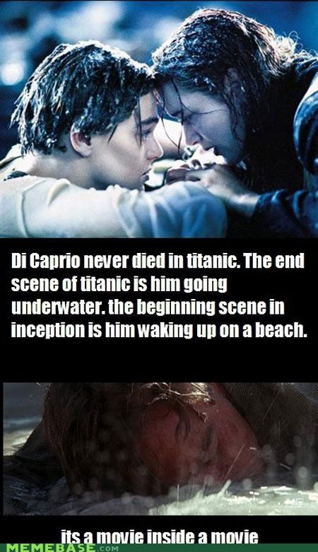dicaprio Inception james cameron Movie titanic water - 4866452736
