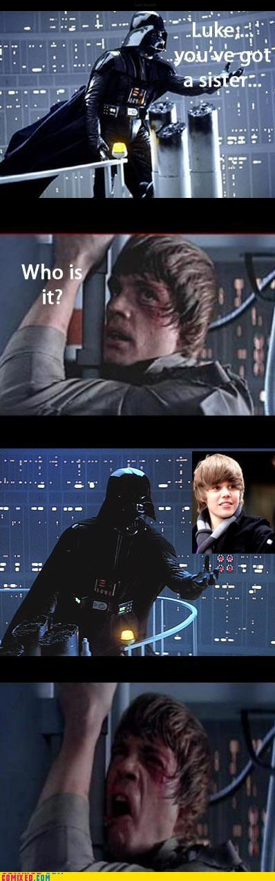 darth vader,Father,justin beiber,Luke,star wars