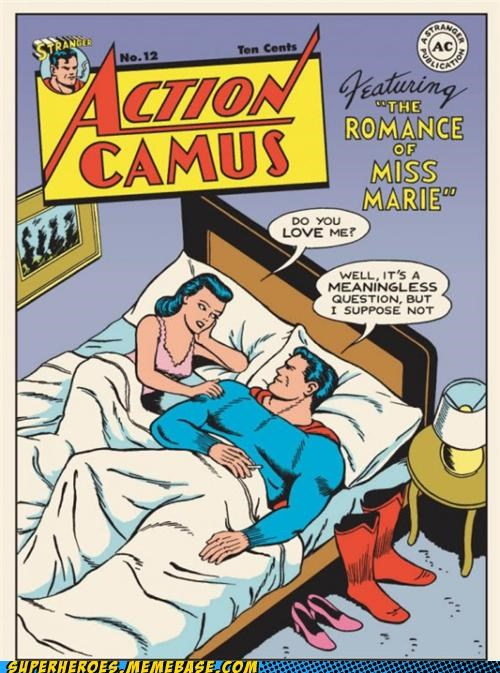 action comics camus meaningless Straight off the Page superman - 4866617088