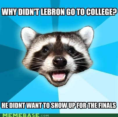college,finals,Lame Pun Coon,lebron,miami,minutes,sports,twelve
