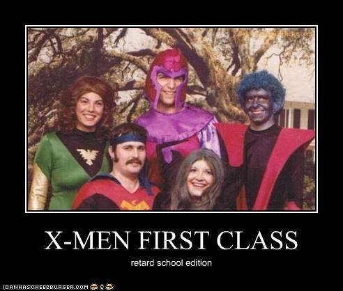 X-MEN FIRST CLASS retard school edition