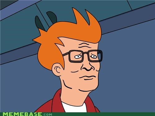 cant tell,fry,futurama,hank,hipster,King of the hill,mix