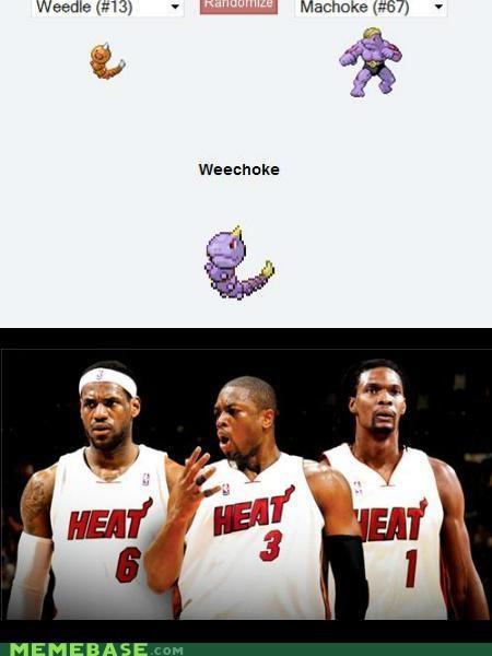 basketball choke fusion Heat lebron miami Pokémemes Pokémon - 4867090688