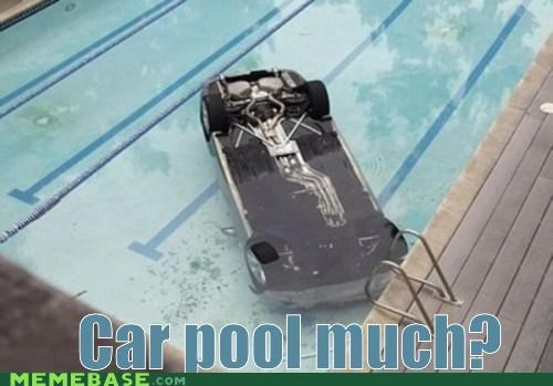 car pool cars driver Memes puns swimmer - 4867126784