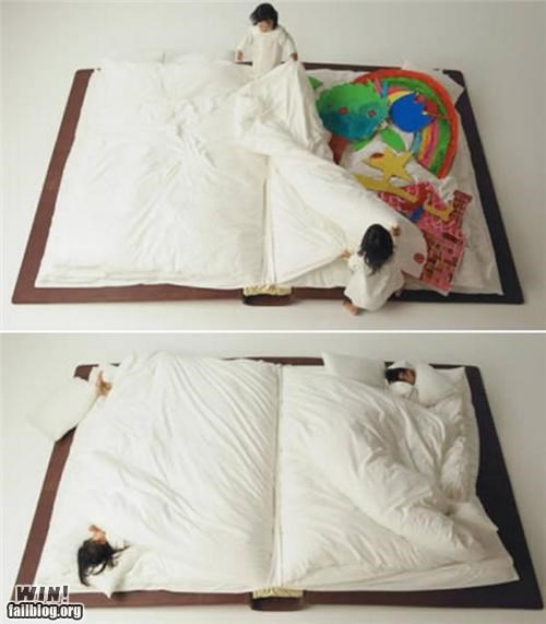 awesome,bed,books,design,sleeping