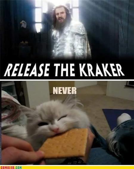 cracker,From the Movies,kitteh,kraken,Thor
