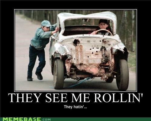 car hating hilarious rollin wtf - 4867615232