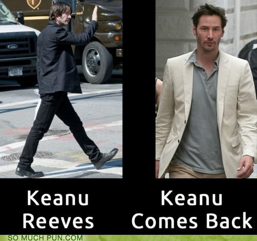 keanu keanu reeves leaves reeves rhyming similar sounding surname the matrix
