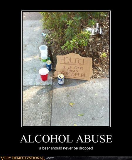 beer drop hilarious police sign - 4867686144