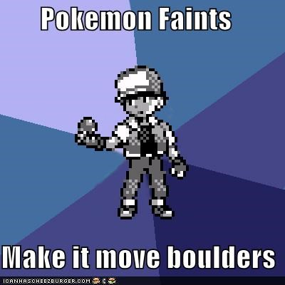Pokemon Faints Make it move boulders