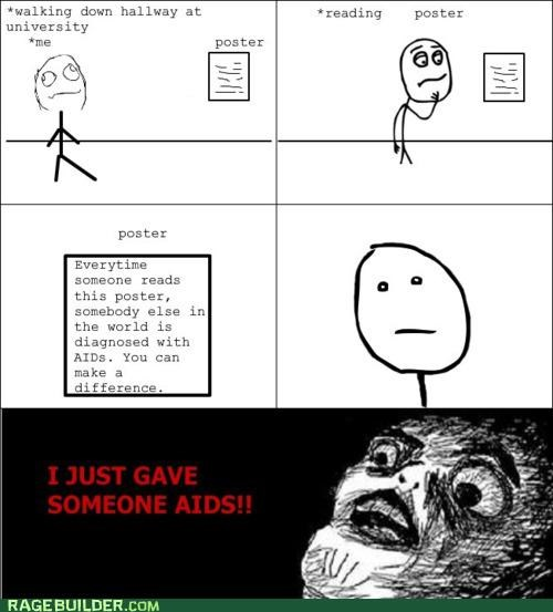 aids FAIL misleading poster Rage Comics - 4868066304