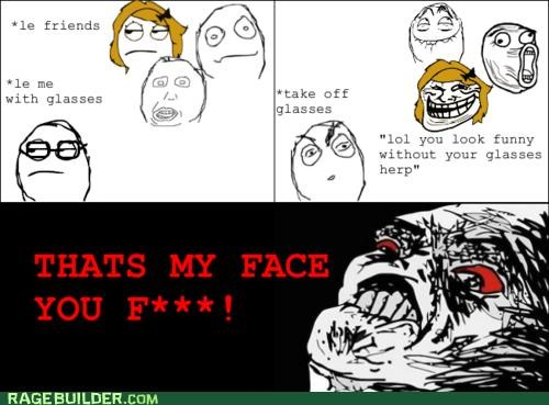 face glasses Rage Comics rude - 4868070400