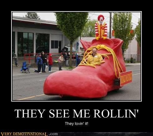 Ronald McDonald wtf car shoe - 4868075776