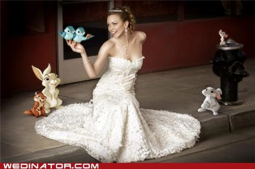animals,bride,disney,funny wedding photos