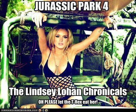 actor celeb funny jurassic park lindsay lohan - 4868846336