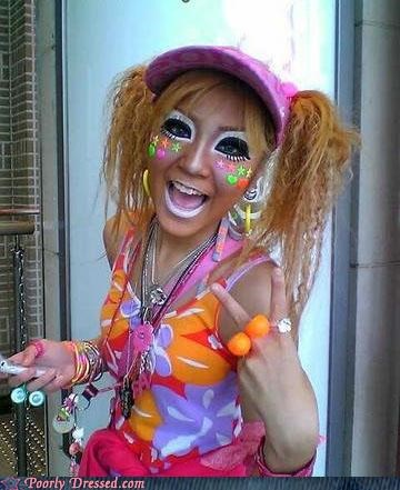 face paint,hyper,neon,rave