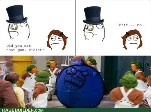 blueberry Charlie and the Chocolate Factory oompa loompa Rage Comics violet - 4868988160