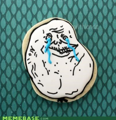 cookies delicious food forever alone icing - 4869018368