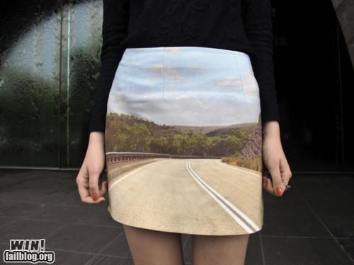 clothes print skirt - 4869065728