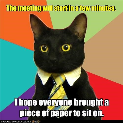 The meeting will start in a few minutes. I hope everyone brought a piece of paper to sit on.